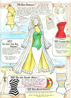 Swimsuit *** Paper dolls for Pinterest friends, 1500 free paper dolls at Arielle Gabriel's International Paper Doll Society, writer The Goddess of Mercy & The Dept of Miracles, publisher QuanYin5