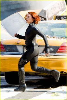 Black Widow (Scarlett Johannson) from Marvel Avengers movie.