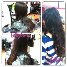 By Bethany  Tape extensions