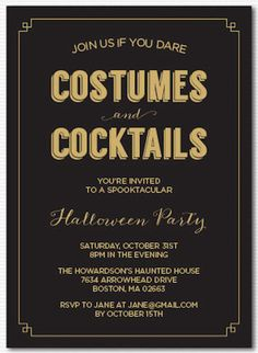 Start your soirée off the proper way with a sophisticated (and spooky) invitation.