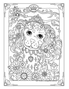Creative Haven Dazzling Dogs Coloring Book By Marjorie Sarnat Princess Dog