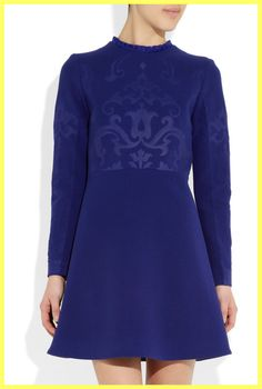 NWOT $2525 STELLA McCARTNEY RUNWAY BLUE WOOL DRESS IT 36 US 00 0 2 XXS XS P   #StellaMcCartney #Shift