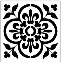 floor Stencil Patterns - Reusable LaserCut Floor Step or Wall Tile Stencil. Stencil Art, Stencil Designs, Tile Stencils, Stenciling, Painting Stencils, Stencil Printing, Letter Stencils, Home Bild, Meme Design