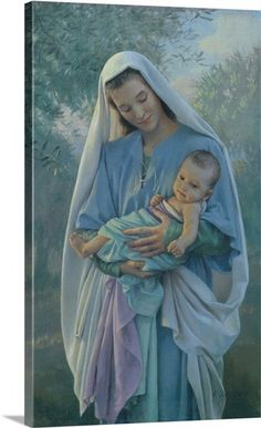 Love's Pure Light by Kathy Lawrence ~ Madonna & Child ~ Blessed Virgin Mary & Baby Jesus Blessed Mother Mary, Divine Mother, Blessed Virgin Mary, Madonna Und Kind, Madonna And Child, Religious Pictures, Jesus Pictures, Mother Mary Pictures, Catholic Art