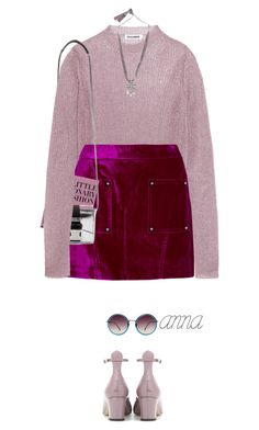 """""""*1736"""" by cutekawaiiandgoodlooking ❤ liked on Polyvore featuring Jil Sander, Linda Farrow, Opening Ceremony, Christopher Kane, Lanvin, Valentino, velvet and outfitonly"""
