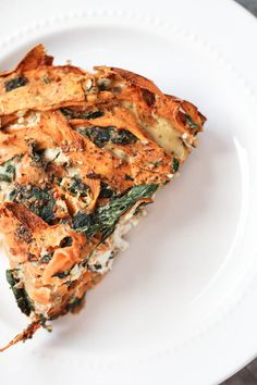 Yam Kale and Goat Cheese Crustless Quiche