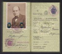 1938 Keményfedeles útlevél   axioart.com