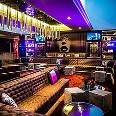 Hard Rock Hotel bar and lounge in Palm Springs, California, by Mister Important Design. Photography by Chris