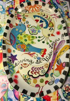 Ani Alonso Hand Painted Pottery, Pottery Painting, Ceramic Painting, Ceramic Pottery, Pottery Art, Ceramic Art, Plate Art, Arte Popular, Pottery Designs