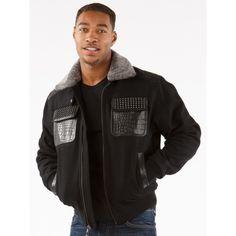 STUDDED GATOR - BLACK - Outerwear - Mens