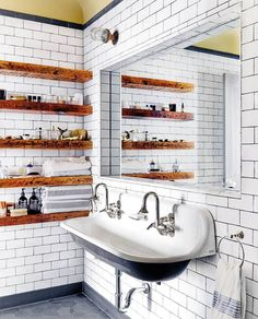 """9,075 Likes, 76 Comments - domino (@dominomag) on Instagram: """"The BEST bathrooms of 2016, featuring our favorite subway tiled spaces, clawfoot tubs, statement…"""""""