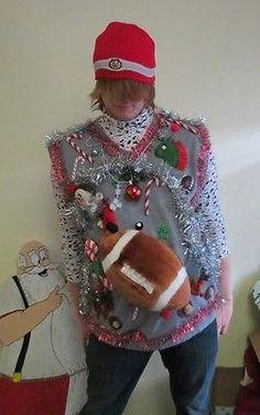 Ultimate OSU Buckeyes Ohio Fan Light Up Tacky Ugly Christmas Sweater Mens XXL   eBay football!