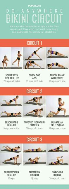 Do anywhere bikini circuit workout