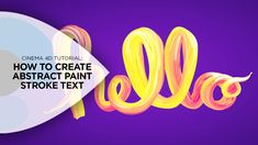 In this tutorial, I'll break down how I created this abstract, organic candy paint stroke text inside of Cinema 4D. I'll show you how I created the base geom...