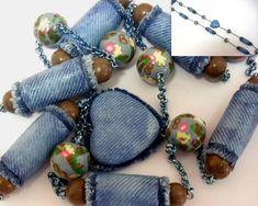polymerclayfimo: Изделия :украшения в зигзагах и джинсовая имитация.
