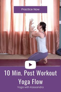 10 minute post workout yoga stretch. Unwind and stretch after a tough workout with this simple full body workout cool down stretch! Click through for this yoga class and hundreds more on our yoga YouTube channel! Yoga for Flexibility | Yoga fitness | at home workout | free online yoga workout Youtube Workout Videos, Yoga Youtube, Flexibility Routine, Yoga For Flexibility, Post Workout Stretches, Yin Yoga Sequence, Yoga For Stress Relief, Online Yoga Classes, Yoga For Back Pain