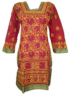 Indian Tunic Kurta Womens Kurti Embroidered Cotton Long Sleeve Yoga Dress Xx-small Mogul Interior http://www.amazon.com/dp/B00WJX2176/ref=cm_sw_r_pi_dp_KVaBvb1BWPHBR