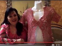 Primera parte - CHALECO DE FLOR tejido a gancho - Tejiendo con LAURA CEPEDA - YouTube