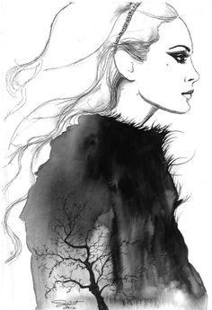 Fashion Illustrations by Jessica Durrant | Cuded