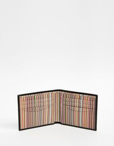 Image 4 ofPaul Smith Leather Billfold Wallet With Multistripe Lining