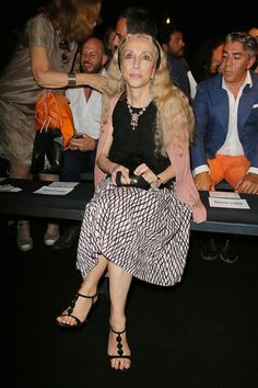 Franca Sozzani Photos - Franca Sozzani attends the Jean Paul Gaultier Couture fashion show as part of AltaRoma AltaModa Fashion Week Autumn/Winter 2013 on July 7, 2013 in Rome, Italy. - Front Row at Jean Paul Gaultier