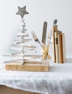navidad christmas decoración mesa table decoration diy blanco white fiesta party miraquechulo