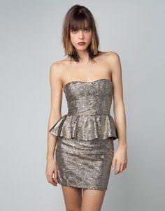 Bershka México - Vestido Bershka tejido fantasía