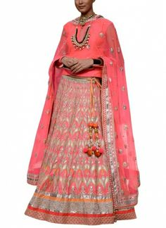 Sweet Peach Lehenga Set