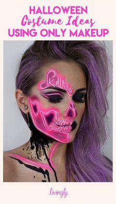 45 Ideas Makeup Looks Halloween Special Effects Halloween Costumes You Can Make, Looks Halloween, Halloween Cosplay, Diy Halloween, Halloween Face Makeup, Halloween Stuff, Halloween Treats, Halloween Decorations, Adornos Halloween