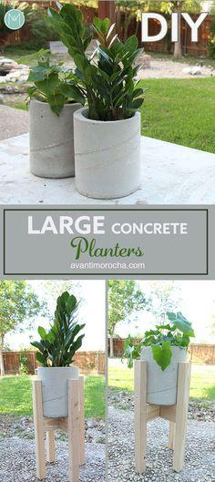 DIY Large Concrete Planters | Maceteros de Concreto | Cement | Cemento | Industrial Design