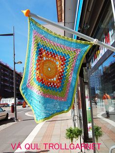 Trollgarnet crochet Pennant flags got to be the new vogue for the flag community