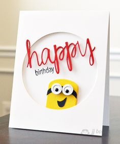JJ Bolton {Handmade Cards}: Happy Minions with Avery Elle