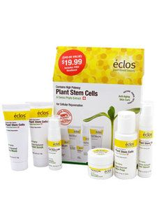Eclos Anti-Aging Starter Kit $19.99 ~ Every Eclos product in a try-and-travel set! Love that I can get great skin care to go. #eclos #eclosskincare #freemanbeauty #skincare #applestemcells #antiaging