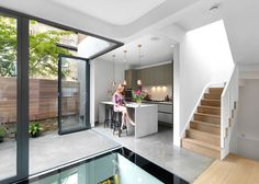 London House by Neil Dusheiko has a curved brick extension