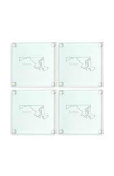 Cathy's Concepts 'Home State' Glass Coasters (Set of 4)   Nordstrom