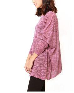 Jersey ligero rosa jaspeado cuello barca