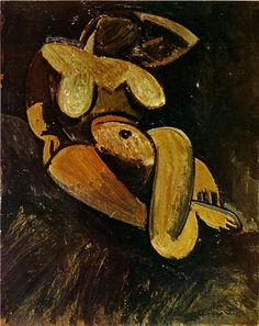 """Pablo Picasso, """"Reclining Nude"""", 1908"""