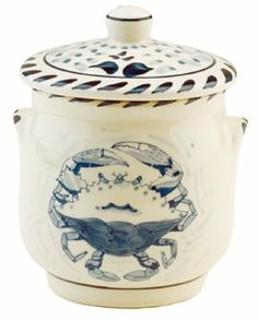 "Blue Crab Bay - 4.5"" Stoneware Sugar Jar Designed By Artisan José Dovis by Blue Crab Bay. $15.99. 4.5"" Stoneware Sugar Jar. Microwave- and dishwasher-safe. Lead-free and oven-safe to 400°F. Designed by an Eastern Shore artisan José Dovis. Blue Crab Stoneware by Dovis Designs is produced and hand-painted in Thailand exclusively for Blue Crab Bay Co. The stoneware is lead-free as well as microwave- and dishwasher-safe. It is also oven-safe to 400°F."