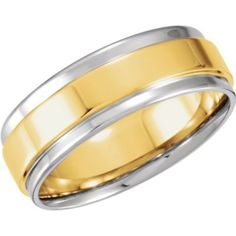 4539cdc67c4 Warren Hannon Jeweler    5971   Yellow Continuum Sterling   Band     Mm    Complete No Setting   Polished   Two Tone Comfort Fit Band