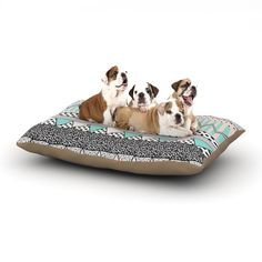 "Vasare Nar ""Chevron Motif"" Pink Teal Dog Bed"
