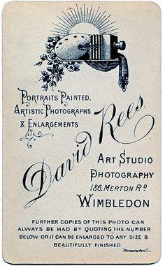 vintage everyday: Vintage Photographic Studio Cards