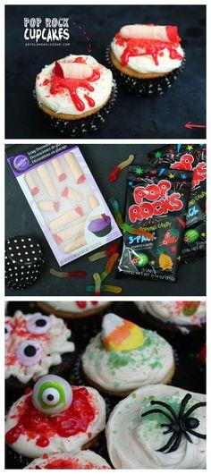 Pop Rock Halloween Cupcakes