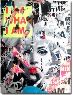 "Saatchi Art Artist Yannick Hamon; Painting, ""I am what i am. Blue"" #art"
