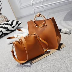 18.24$  Buy here - http://alij5x.shopchina.info/go.php?t=32807413896 - Lavimos European Style  Women Top Handle Shoulder Bags 2017 Fashion Women Messenger Handbag Set PU Leather Composite Bag Gifts  18.24$ #aliexpressideas