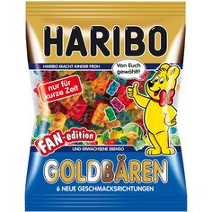 -in USA- Haribo Goldbaren - FAN EDITION - 200 g Haribo Candy, Haribo Sweets, Fini Tubes, Chocolate Candy Brands, Gourmet Recipes, Snack Recipes, Best Christmas Toys, Gum Flavors, Sweet Like Candy