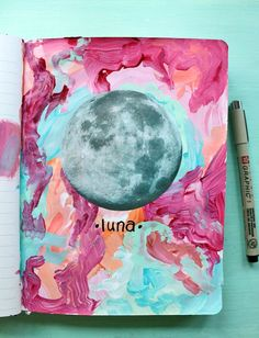 punk projects: Get Messy Thursday- Season of Magic Week 4 // art journal and painting inspiration