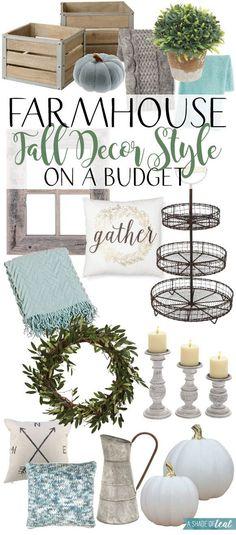 Farmhouse Fall Decor Style on a Budget!   A Shade Of Teal