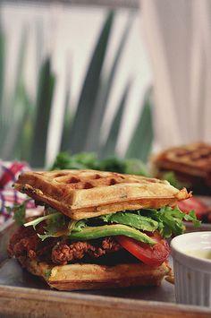 Whole-Grain Waffles with Sliced Strawberries & Yogurt: waffles are ...