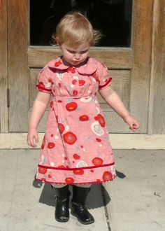sweet girls dress + boots (just a picture)