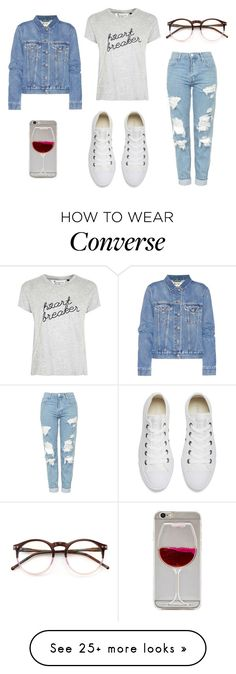 """""""❔Ⓜ️❔"""" by makemelove on Polyvore featuring Tee and Cake, Topshop, Acne Studios, Converse and Wildfox"""